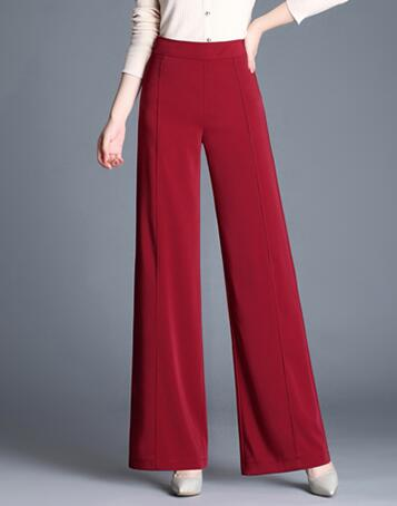 De Para verde Ancha Moda Rojo Las Completa Negro borgoña Nueva Negro Alta Gris rojo Ol gris Cintura Pantalones Sy50812 Más Pierna Verde Tamaño Femenino Longitud Mujeres tdqntxpwf