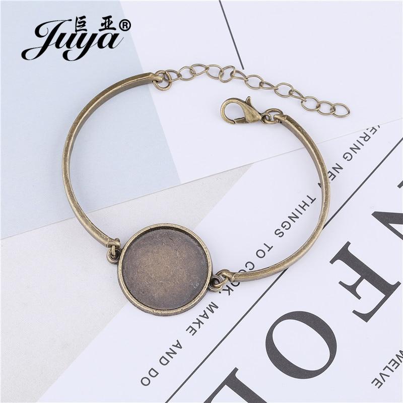 4 stand bracelet 20mm BRONZE for a digital collage DIY