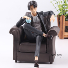 Attack on Titan Levi Ackerman Sitting Sofa Ver. PVC Figure Attack on Titan Anime Figurine Collectible Model Toy 16cm