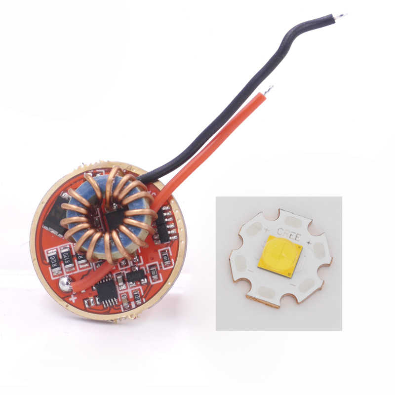 Cree XHP70.2 6V White 6500K / Warm White 3000K LED Emitter With 20mm DTP Copper pcb+ 26mm 1 Mode or 5 Modes Driver