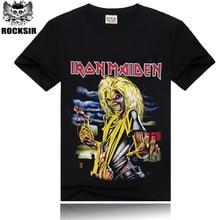 T-shirt Men Iron Maiden Brand 3D Style 2016 Heavy Metal Streetwear Men's Tshirt Cotton Casual Short Sleeves Top Tees