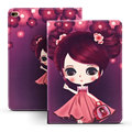 Cover for Funda iPad Air Case Cartoon Girls PU Leather Ultra Slim Anti-Dust TPU Back Cover for iPad Air 1 for Kids