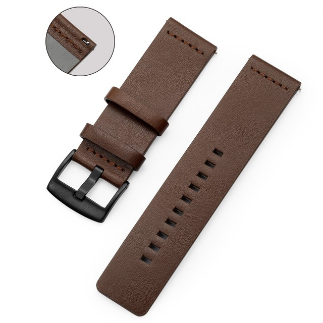 Leather Watch band Strap for Samsung Galaxy Watch 20mm 22mm Genuine