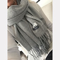 Shegetit 2017 New Luxury Scarf Winter Women Scarf Men Wool Cashmere Solid Scarf Best Quality Pashmina Tassels Wraps Scarves