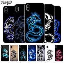 Beautiful Dragon Sketch Fundas Silicone Phone Back Case For Apple iPhone 6 6S 7 8 Plus X 10 XS MAX XR 5 5S SE Heart Cover