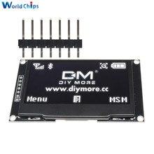 """Diymore白 2.42 """"2.42 インチlcdスクリーン 128 × 64 oledディスプレイモジュールiic I2C spiシリアル 12864 oledディスプレイC51 STM32 SPD0301"""