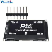"Diymore beyaz 2.42 ""2.42 inç LCD ekran 128x64 OLED ekran modülü IIC I2C SPI seri 12864 OLED ekran C51 STM32 SPD0301"
