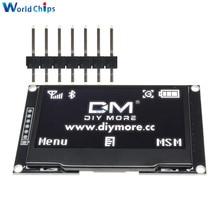 """Diymore blanc 2.42 """"2.42 pouces écran LCD 128x64 OLED Module daffichage IIC I2C SPI série 12864 OLED affichage pour C51 STM32 SPD0301"""