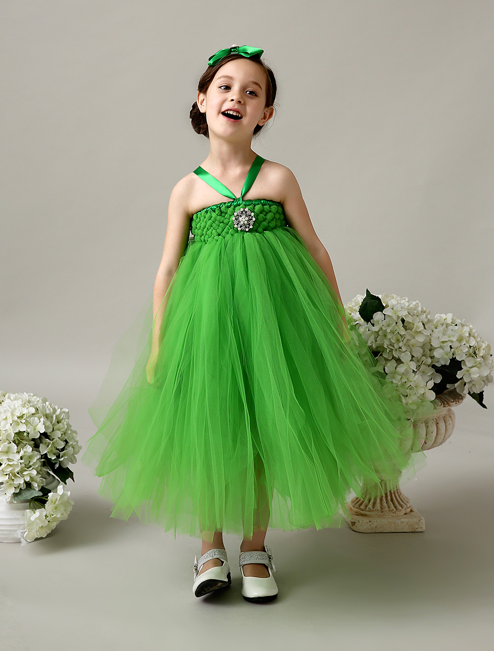 Little Girl Green Dress