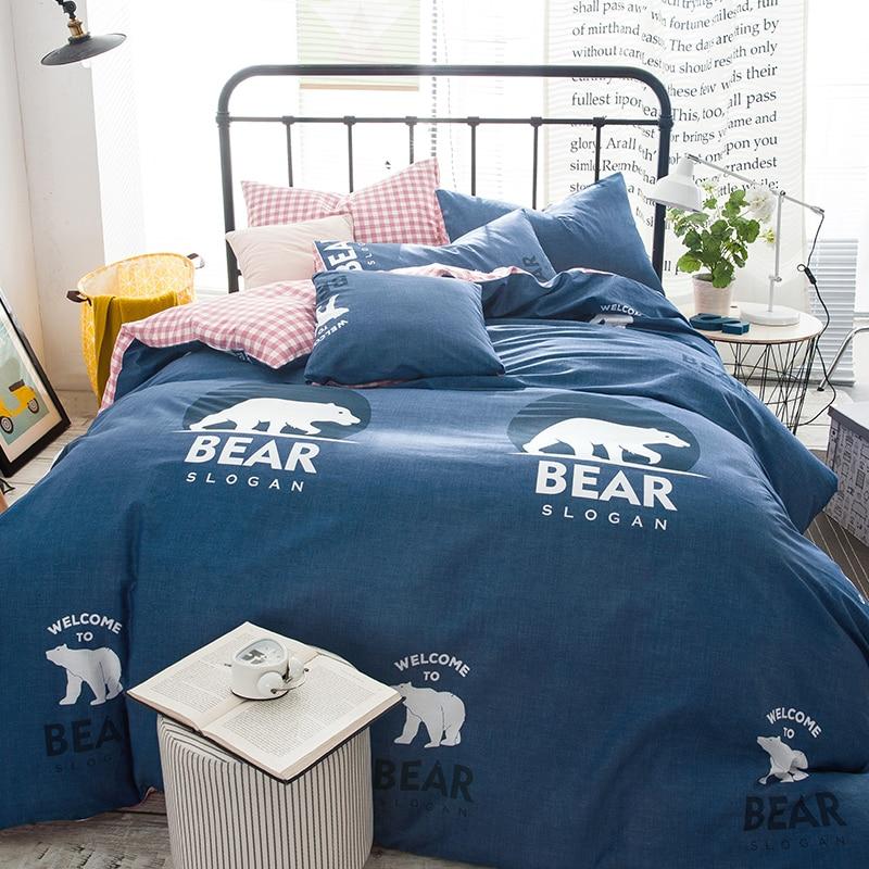 Online Get Cheap Plaid Boys Bedding Aliexpress Com