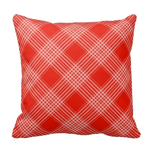 Pillows Cover Red And White font b Tartan b font Checkered Pattern Pillow Case Size 20
