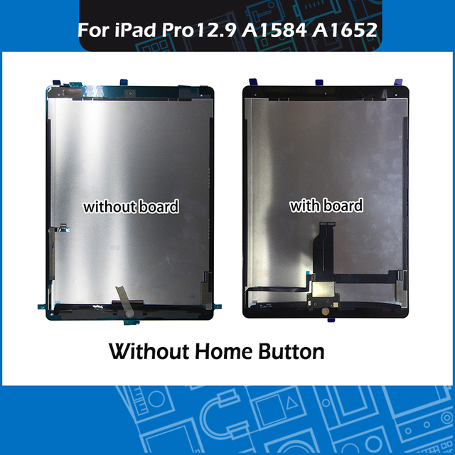 "Pantalla Completa A1584 A1652, montaje de pantalla táctil en blanco y negro, para iPad Pro, pantalla de 12,9 ""con placa"