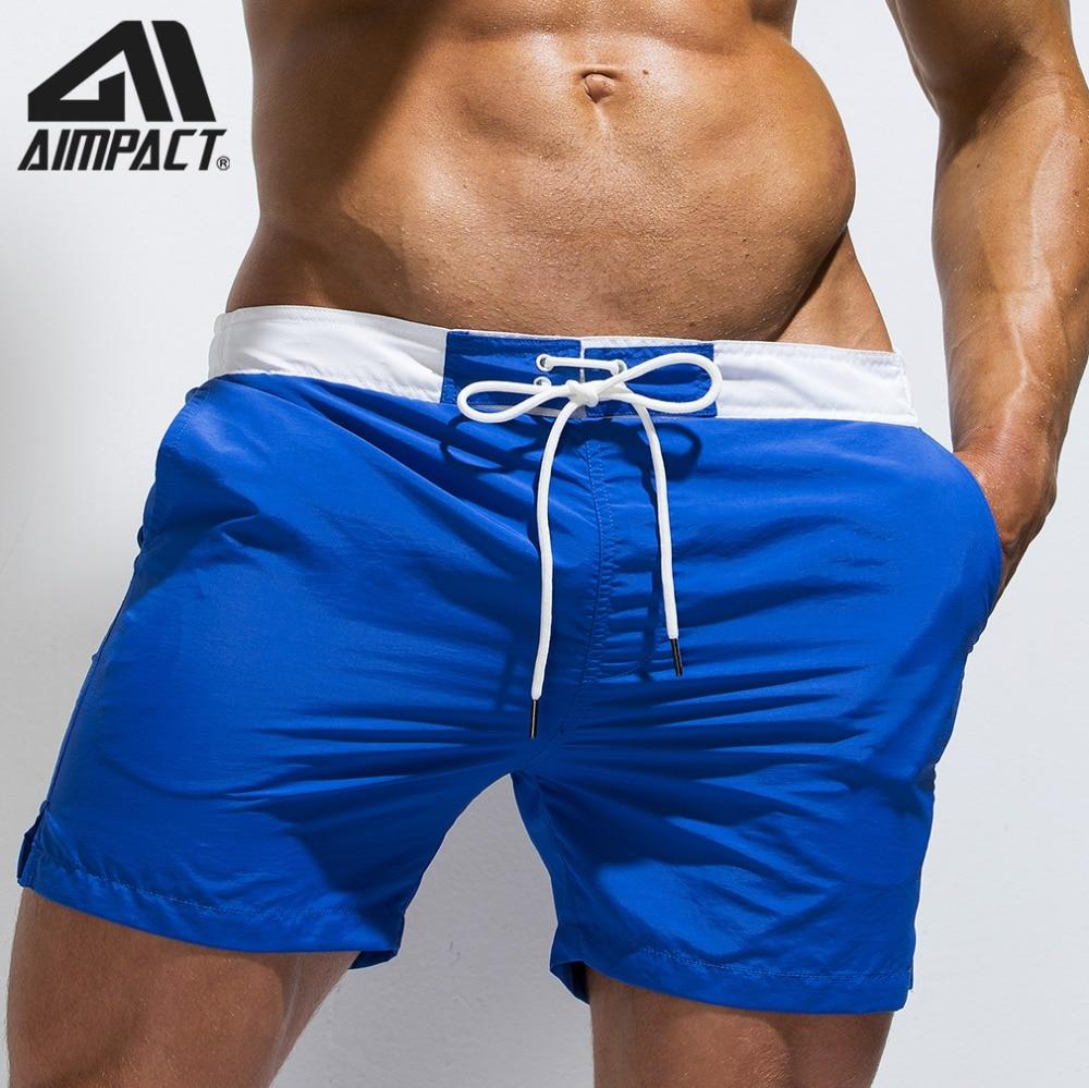 Lightweight Quick Dry Board Shorts For Men Swimming Trunks Drawstring Watershorts Summer Solid Beachwear Male Bathsuit AM2172