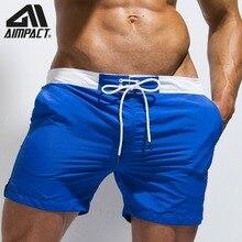Pantalones cortos de secado rápido para hombre, bañadores ligeros con cordón, pantalones cortos de agua, ropa de playa lisa, traje de baño para hombre AM2172