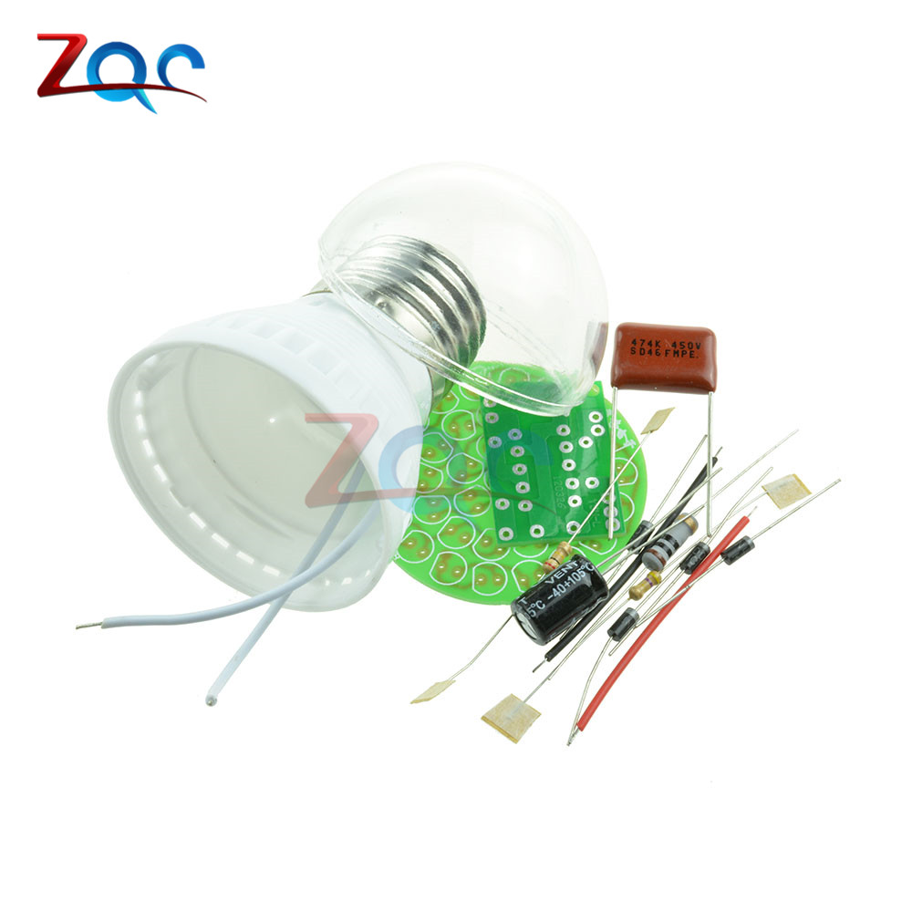 1Set Energy-Saving 38 LEDs Lamps DIY Kits Electronic Suite High Quality 7