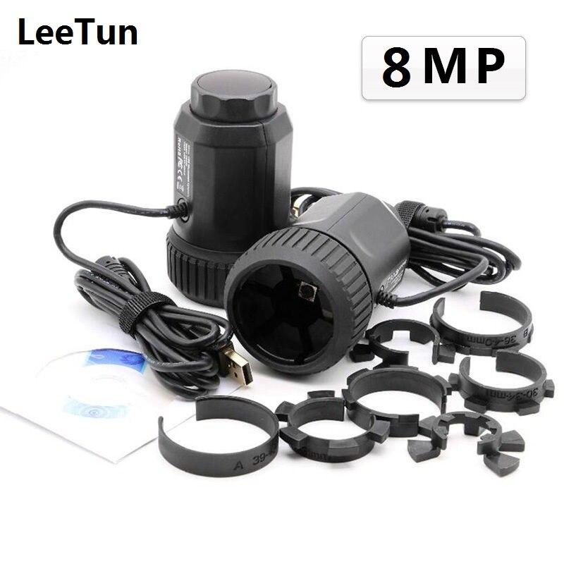 Mise au Point automatique 8MP Télescope Microscope Oculaire Électronique USB Vidéo CMOS Caméra Industrielle Oculaire Numérique Capture D'image 8.0MP