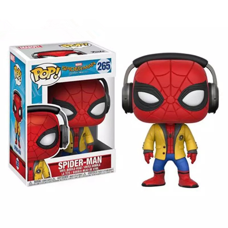 FUNKO <font><b>POP</b></font> Official <font><b>Marvel</b></font>: Spider-Man Homecoming - <font><b>Spiderman</b></font> with HeadPhones Vinyl Figure Collectible Toy with Original box