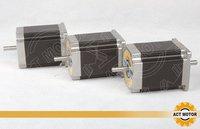 free ship 3pcs dual shaft nema 23 stepper motor 1.89n.m(268oz in) 76MM / 3A Direct selling