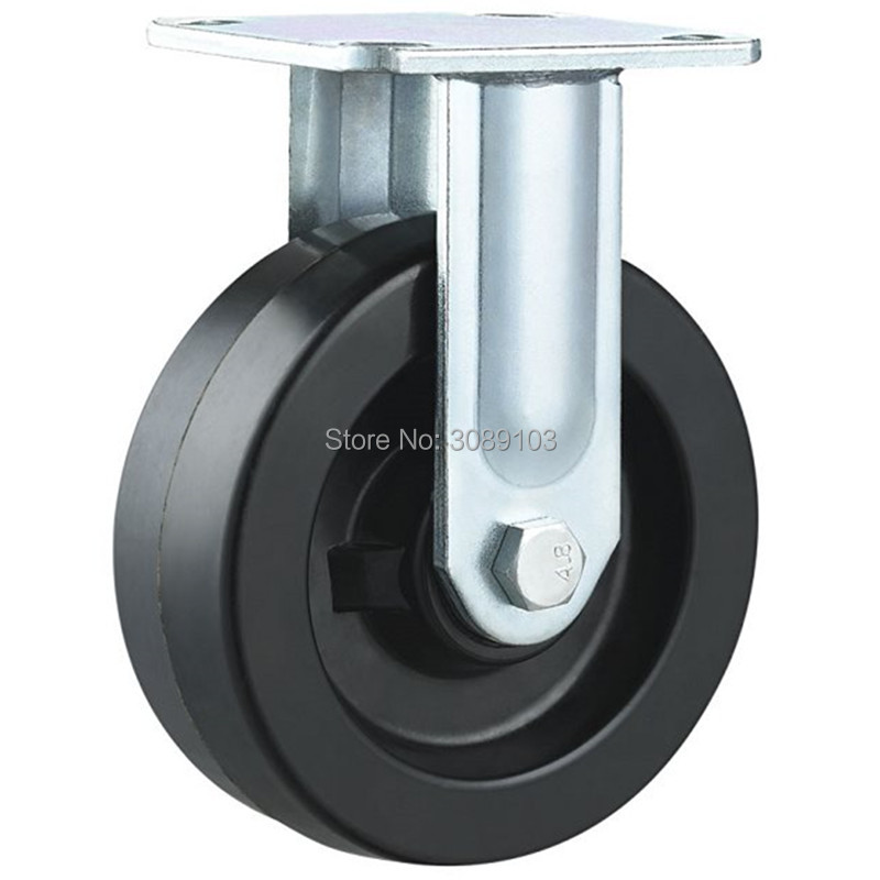 1 PCS 4 inch heavy duty high temperature caster wheel fixed casters 230 degree high temperature heavy duty caster wheel 1pz 3 inch high quality wearable long working life fixed nylon medium duty caster and weel