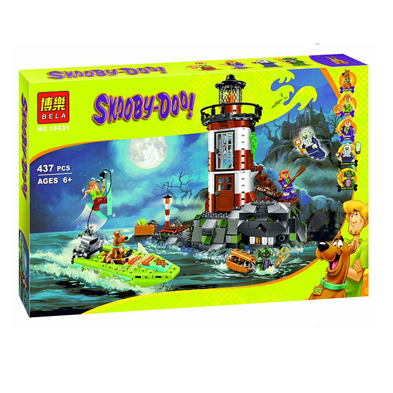 437Pcs Haunted Lighthouse 10431 Scooby Doo Dog Model Building Bricks Block 3D Kids Children Kids Toys Gifts Set Compatible Lepin