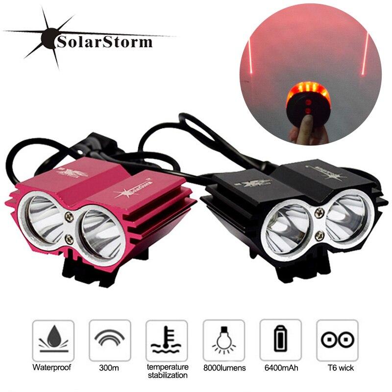 Bicycle Bike LED Headlamp Cycling Headlight Flashlight Torch Tail Light Lamp SA