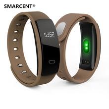 Smarcent QS80 Bluetooth Smart Браслет сердечного ритма Сидячий напоминание мониторинг сна SmartBand браслет для IOS Android