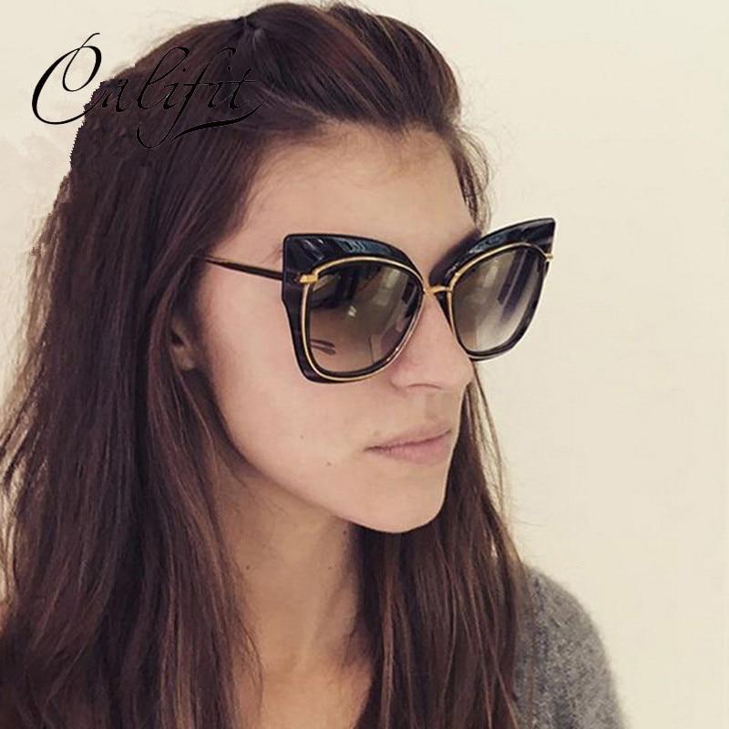 bcf7b5dcd09e10 CALIFIT Vintage Cat Eye lunettes de Soleil Dames Surdimensionné Cadre  Designer Rétro Shades Femmes 2018 Nouvelle Mode Lunettes de Soleil Femme De  Luxe