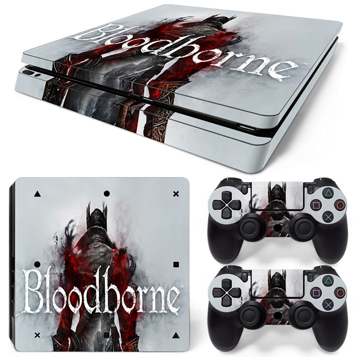 Bloodborne full skin sticker for PS4 Slim console game decals for PS4 Slim #TN-PS4slim-1034