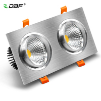 [DBF]Angle Adjustable Square LED COB Downlight Dimmable LED Downlight COB 14W 18W 24W 30W LED Recessed Ceiling Spot Light|Downlights| |  -