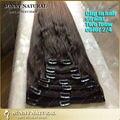 Tom 2/4 em extensões do cabelo reto brasileiro de extensão do cabelo humano de 100 / 140 grama