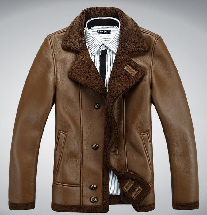Новые зимние кожаные куртки мужские пальто из искусственного меха имитация овчины повседневная мотоциклетная кожаная куртка утепленная в...