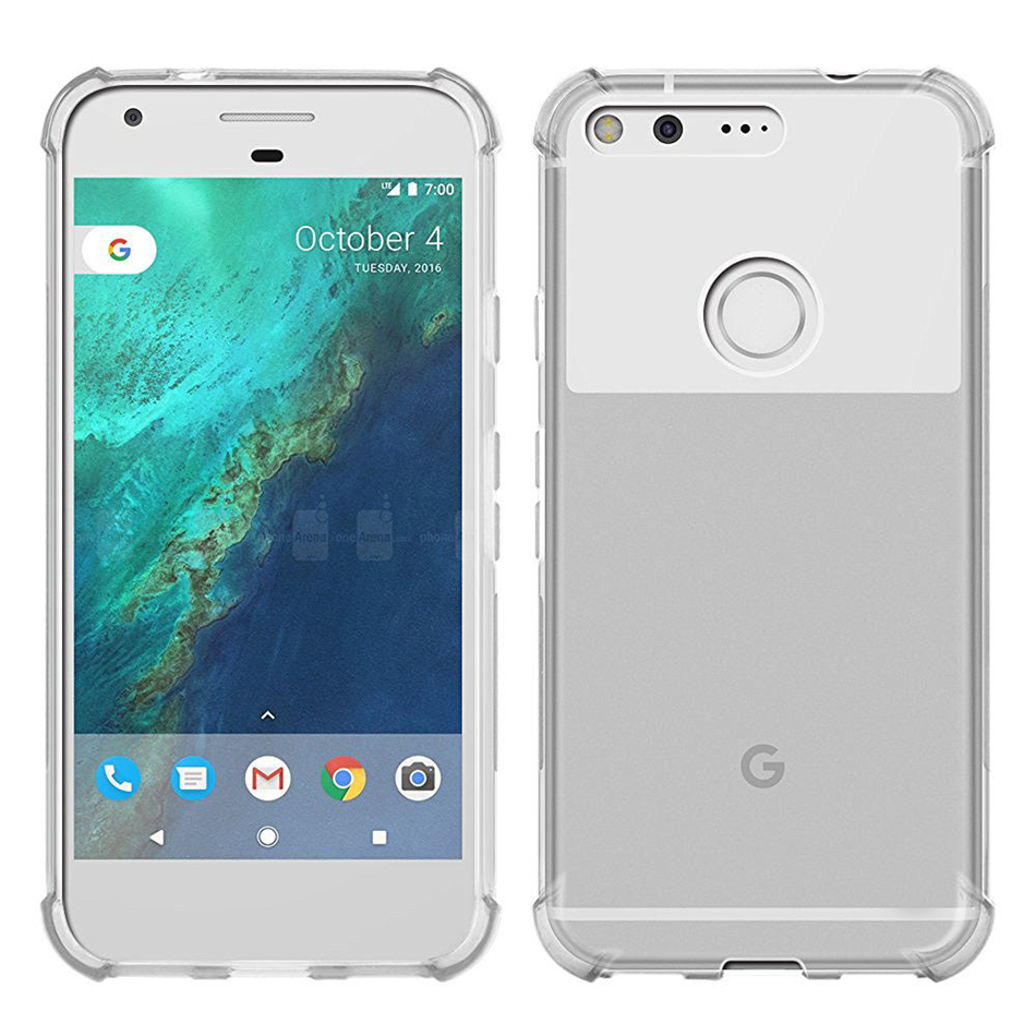 For Google Pixel 1 2 3 XL Lite Air Cushion Case Clear Crystal Soft Silicone Silicon TPU Shockproof Full Protection Phone Cover 4