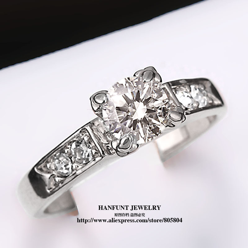 R052 Classic Crystal Ring 18K K Platinum Plated aneis Wedding Ring Made with Genuine Austrian Crystals Full Sizes anel Wholesale