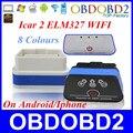 Оптовая Vgate Икар 2 Wifi ELM327 OBD2 С 8 Цветов Работает на Android/Iphone/ПК OBD2 Автоматический Диагностический сканер Бесплатная Доставка