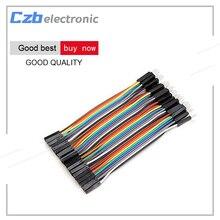 40 шт. Dupont 10 см штекерным женский джемпер Провода ленты кабель для Arduino