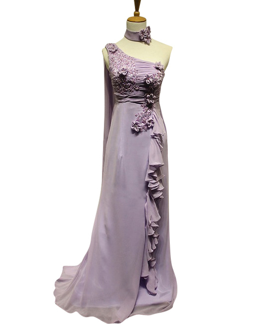 Custom Make Lavender Applique Beaded Thai Style Long Bridesmaid Dress Wedding Party