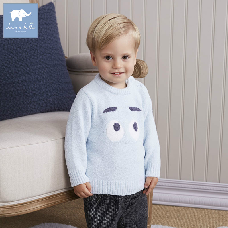DB6019 dave bella autumn infant baby boys pullover sweater lovely clothes toddler children knitted Sweater db4013 dave bella autumn baby girl sweet design sweater toddler sweaters infant clothes girl soft sweater high quality