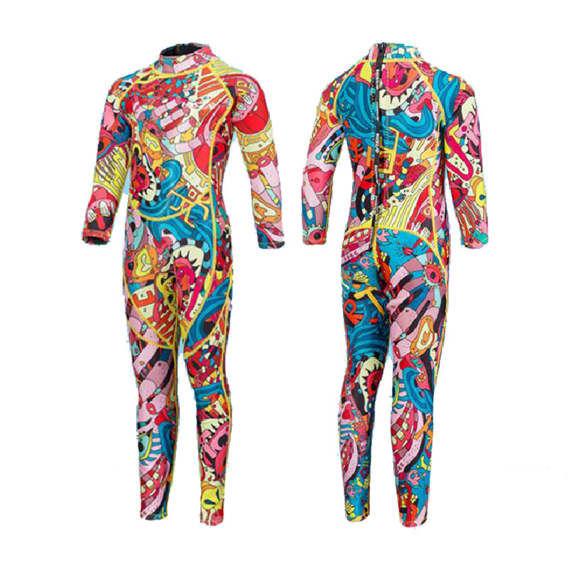 2.5mm Neoprene Wetsuit for Kids Half Dry One Piece Suits Children Water Sports Boy Girl Surfing Snorkeling Scuba Diving Suit women wetsuit one piece front zipper print solid diving suit bright color neoprene verzy surfing suit for women m xxl quick dry