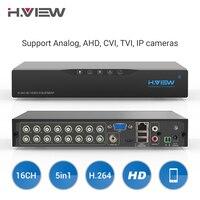 H. View 16ch видеонаблюдение NVR видео Регистраторы CCTV DVR для домашной безопастности Поддержка 4 TB, SATA, HDD 1080 P видео Выход H.264 DVR