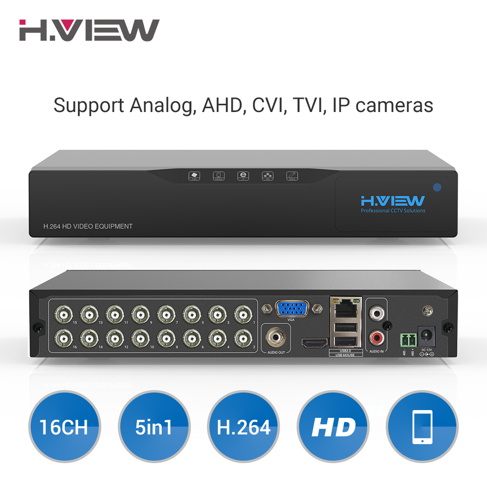 H.View 16ch NVR Video Surveillance Video Recorder CCTV DVR for Home Security Support <font><b>4TB</b></font> SATA <font><b>HDD</b></font> 1080P Video Output H.264 DVR image