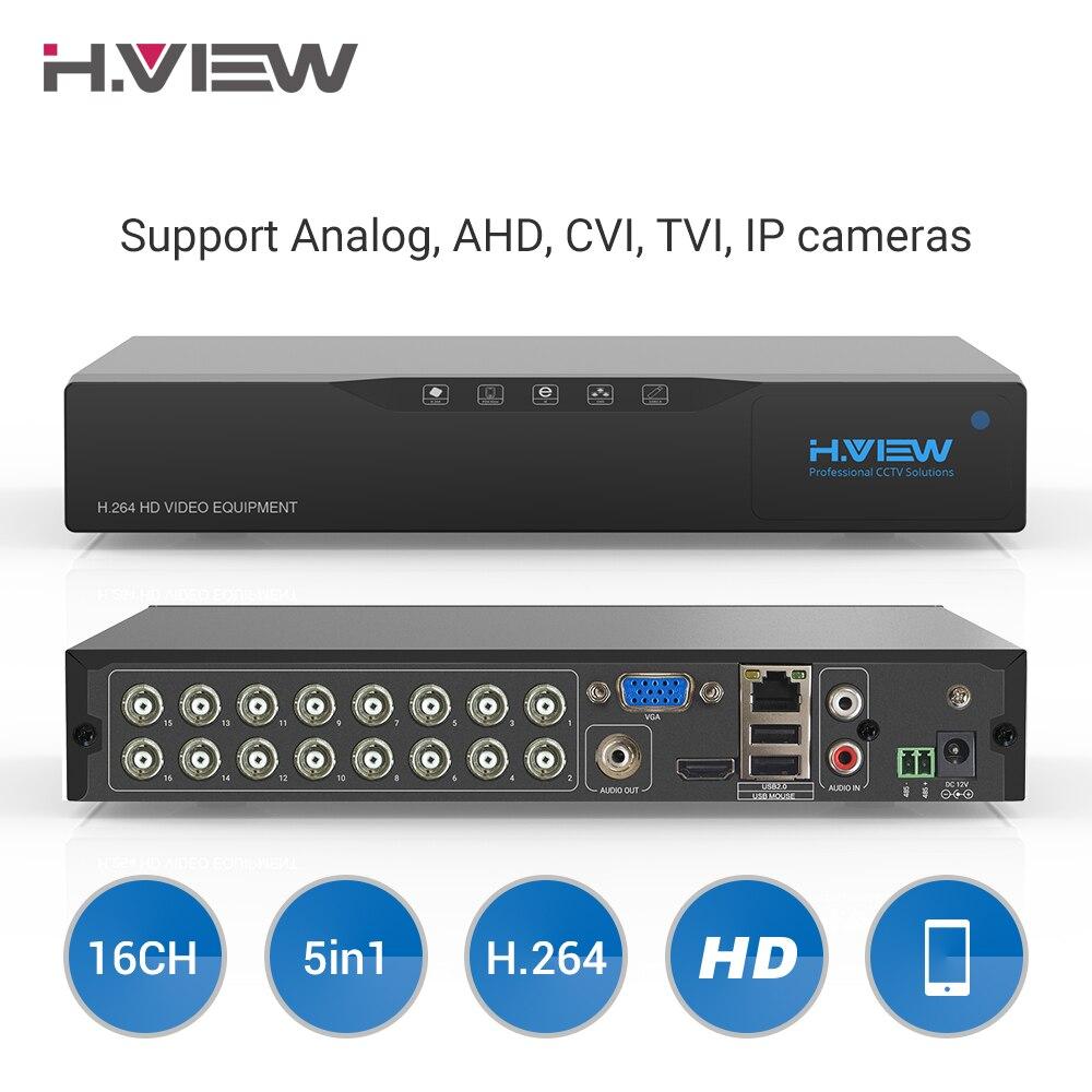 H. View 16ch видеонаблюдение NVR видео Регистраторы видеонаблюдения DVR для дома безопасности Поддержка 4 ТБ SATA HDD 1080 P видео Выход H.264 DVR