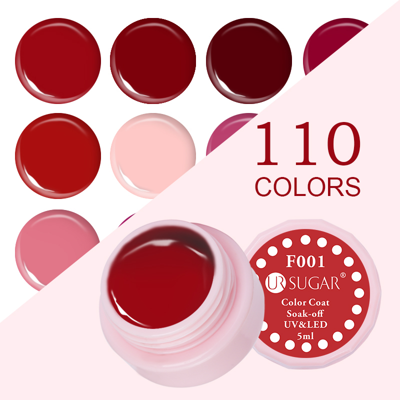 SUGAR UR Soak Off 5ml Nail Gel Classical Red Series Polish Polish 110 Pure Colors Efecto Coat UV LED Nail Color Laca Nail Gel