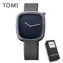 TOMI Brand Luxury Men Elegant Watches Fashion Casual Male Leather Clock Quartz Wristwatches Business Mens Dress Watch