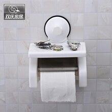 ShuangQing 1800 Toilet Paper Holder Bathroom Waterproof Rolling Paper Plistic Wall Mounted Toilet Tissue Paper Rack