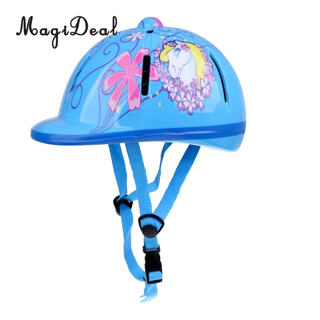 MagiDeal Children Kids Adjustable Horse Riding Hat/Helmet Head Protective Gear Equestrain Safety Hat Equipment - Various Colors 1