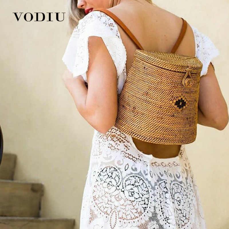 ... mimbre tejido verano playa para las damas Babi rota bolsos femeninos  Bohemia hombro paja. US  17.97. 5.0 (4). 21 Pedidos. Pequeño Top-Manejar  bolsas ... beabfc48794