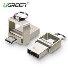 Ugreen USB Flash Drive, 64 GB de Metal Pendrive OTG USB de Alta Velocidade USB Memory Stick 32 GB pen Drive Capacidade Real 16 GB USB Flash disco de U