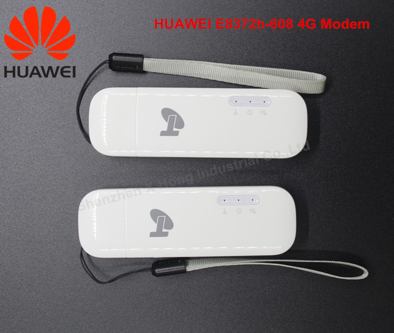 Hot Selling !Unlock Huawei E8372 ( plus a pair of TS 9 antenna) LTE USB Wingle LTE Universal 4G USB WiFi Modem car wifi