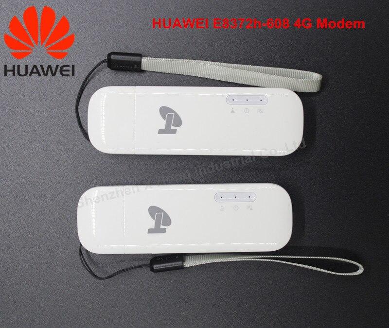 Hot Selling !Unlock Huawei E8372 ( plus a pair of TS 9 antenna) LTE USB Wingle LTE Universal 4G USB WiFi Modem car wifi