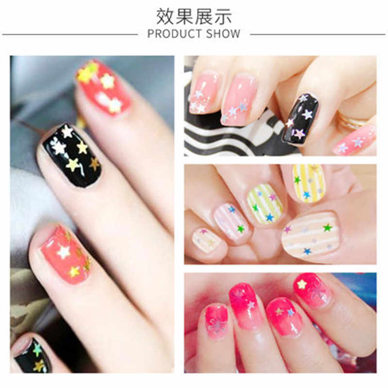 1 Pcs Rainbow Star Weegschalen 12 kleur Nail Stempelkommen Nail Template Mandala Esdoornblad Stempel Nail Art Stempel Afbeelding template Hn #04